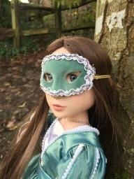 In her lovely mask